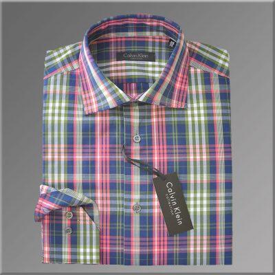 Camasa pentru Barbati, model Slim Fit in carouri colorate