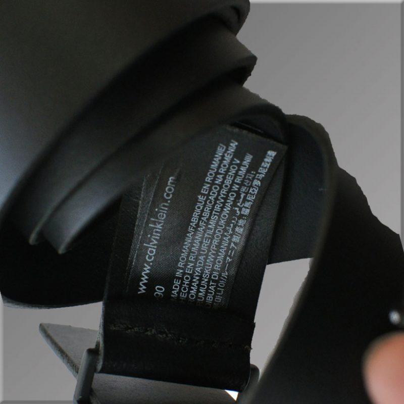 Curea Calvin Klein Material Piele Naturala 100% Negru