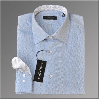 Camasa Barbati, model Slim Fit, Albastru Simplu